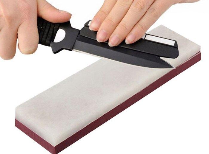 как наточить нож бруском