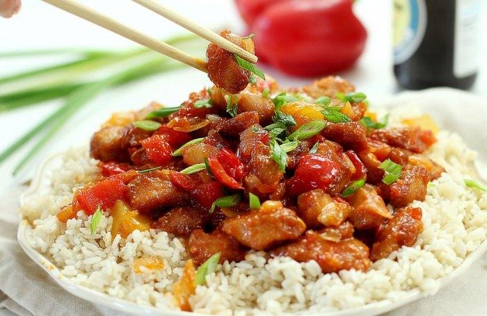 рис с подливкой рецепт